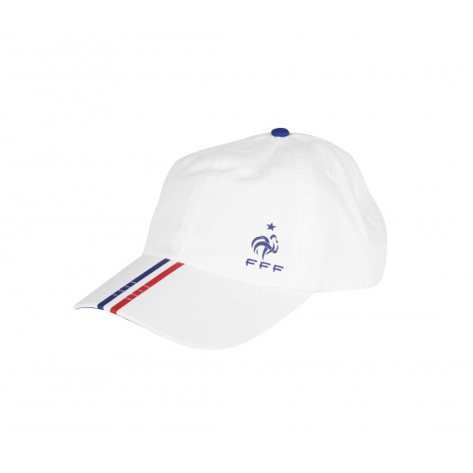 Casquette France FFF Stripes Blanc