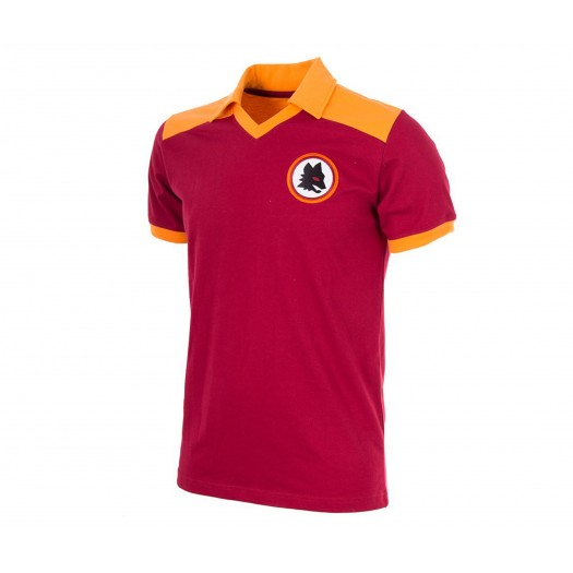Maillot Copa Rétro AS Roma 1980 Rouge