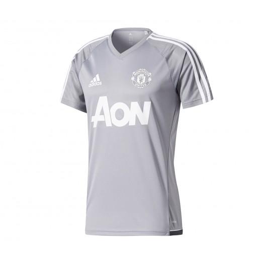 Maillot entraînement adidas Manchester United Gris Soldes