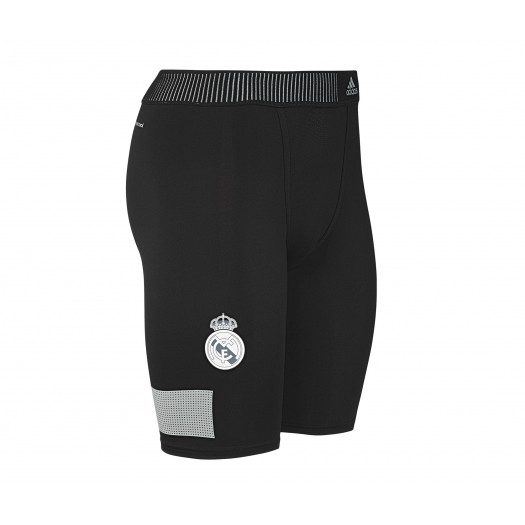 Short Techfit Cool Real Madrid Noir/Argent