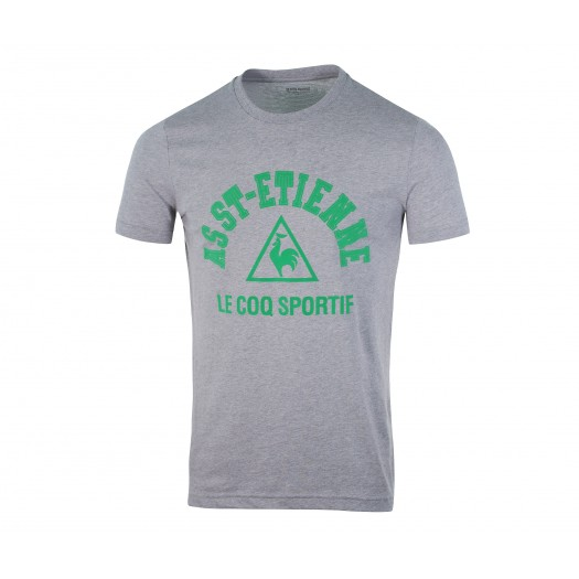 T-shirt Supporter Le Coq Sportif AS Saint-Étienne Gris