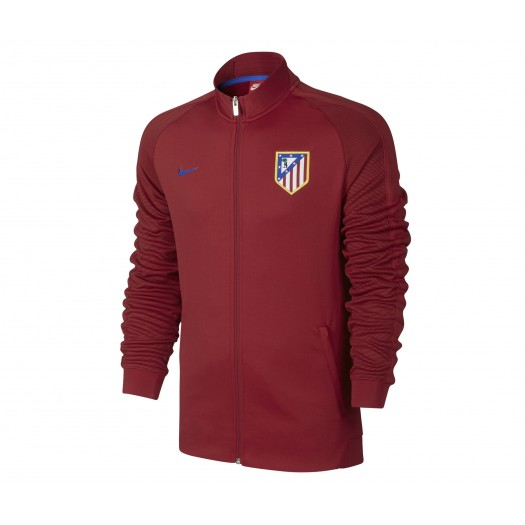 Veste Zip Nike Authentic N98 Atlético Madrid Rouge