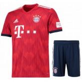 Ensemble Foot Bayern Münich Münich Enfant Adolescents 2018/2019 Maillot Short Domicile