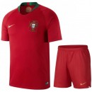 Ensemble Foot Portugal Enfant Adolescents 2018/2019 Maillot Short Coupe Du Monde Domicile