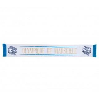 Écharpe Olympique de Marseille Gold Blanc