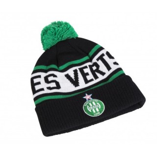 Bonnet Pompon AS Saint-Etienne Noir