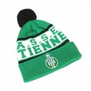Bonnet Pompon ASSE Vert/Blanc
