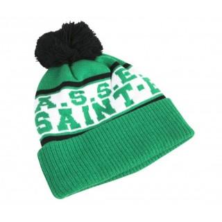 Bonnet Pompon ASSE Vert/Blanc Enfant