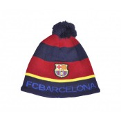 Bonnet Pompon FC Barcelone Bleu et Rouge
