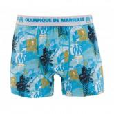 Boxer Olympique de Marseille All Over Bleu