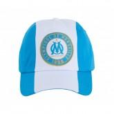 Casquette Olympique de Marseille Stripe Blanc et Bleu