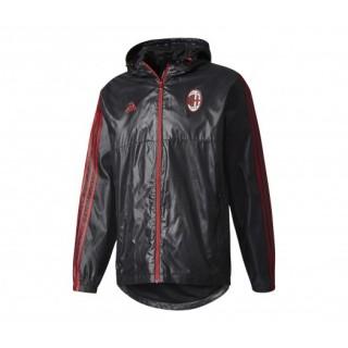Coupe Vent à Capuche adidas Milan AC Noir