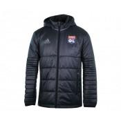 Doudoune à capuche adidas Olympique Lyonnais Noir