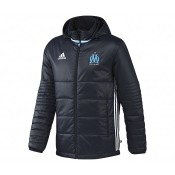 Doudoune à capuche adidas Olympique de Marseille Bleu