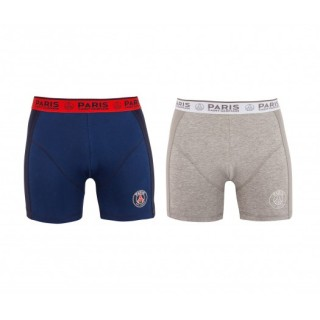 Lot 2 boxers Paris Saint-Germain Bleu et Gris