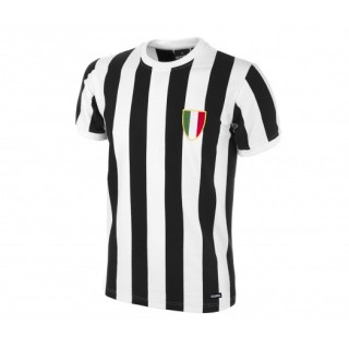 Maillot Copa Rétro Juventus 1970 Noir et Blanc