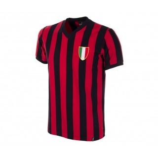 Maillot Copa Rétro Milan AC 1960 Noir et Rouge