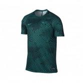 Maillot Entraînement Nike Barcelone FC Squad GX Vert et Noir Enfant