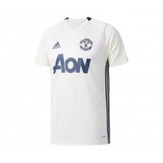 Maillot Entraînement adidas Manchester United Blanc Enfant