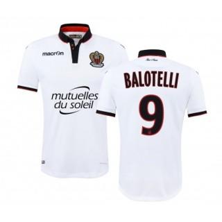 Maillot Macron OGC Nice Extérieur 2016/17 Balotelli Blanc