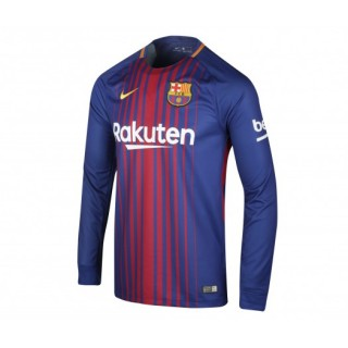 Maillot Manches Longues Nike FC Barcelone Domicile 2017/18 Bleu