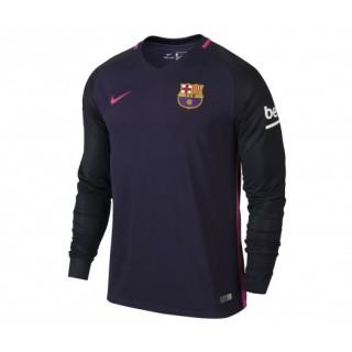 Maillot Manches Longues Nike FC Barcelone Extérieur 2016/17 Violet