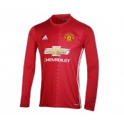 Maillot Manches Longues adidas Manchester United Domicile 2016/17 Rouge