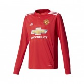Maillot Manches Longues adidas Manchester United Domicile 2017/18 Rouge Enfant