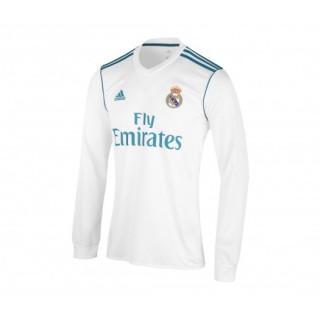 Maillot Manches Longues adidas Real Madrid Domicile 2017/18 Blanc
