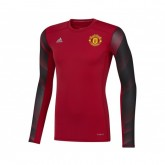 Maillot Manches Longues adidas Techfit Manchester United Rouge