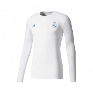 Maillot Manches Longues adidas Techfit Real Madrid Blanc