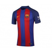 Maillot Match Nike Barcelone Domicile 2016/17 Sans Sponsor Bleu et Rouge
