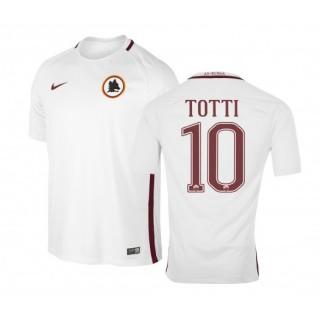 Maillot Nike AS Roma Extérieur Francesco Totti 2016/17 Blanc Enfant