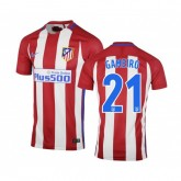 Maillot Nike Atlético Madrid Domicile Gameiro 2016/17 Rouge et Blanc