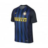 Maillot Nike Inter Milan Domicile 2016/17 Noir et Bleu Enfant