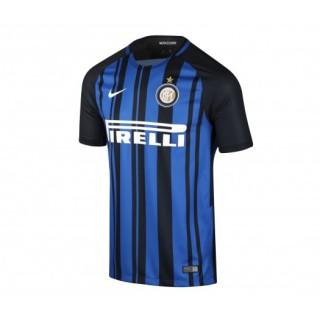 Maillot Nike Inter Milan Domicile 2017/18 Bleu et Noir Enfant