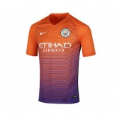 Maillot Nike Manchester City Third 2016/17 Orange et Violet Enfant