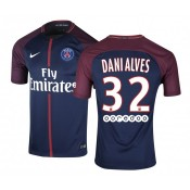 Maillot Nike Paris Saint-Germain Alves Domicile 2017/18 Bleu