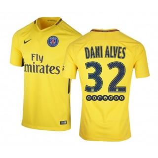 Maillot Nike Paris Saint-Germain Alves Extérieur 2017/18 Jaune