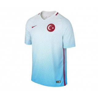 Maillot Nike Turquie Extérieur 2016/17 Blanc et Bleu