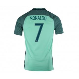 Maillot Portugal Ronaldo 2016/17 Extérieur Vert flocage officiel