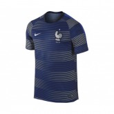 Maillot Pré Match Entraînement II France Football Bleu