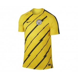 Maillot Pré Match Nike Manchester City Jaune Enfant