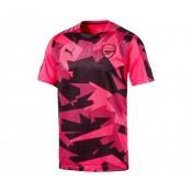 Maillot Pré Match Puma Arsenal Rose et Noir