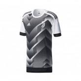 Maillot Pré-Match adidas Juventus Blanc et Noir