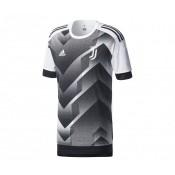 Maillot Pré Match adidas Juventus Blanc et Noir Enfant