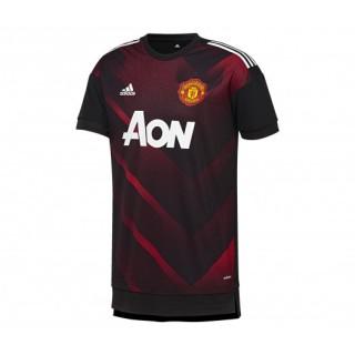 Maillot Pré Match adidas Manchester United Noir