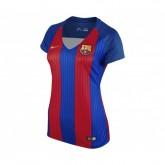 Maillot Supportrice Nike FC Barcelone Domicile 2016/17 Bleu et Rouge Femme