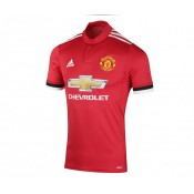 Maillot adidas Authentique Manchester United Domicile 2017/18 Rouge