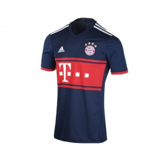 Maillot adidas Bayern Munich Extérieur 2017/18 Bleu Enfant
